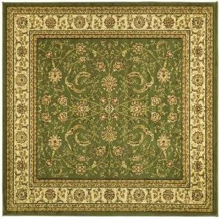 LNH212B Ivory and Black Square Area Rug, 6 Feet
