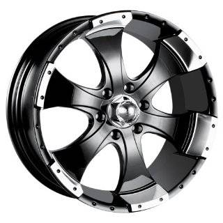 Ion Alloy 136 Black Wheel with Machined Lip (15x6/6x139