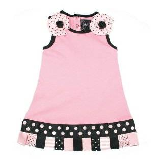 Mud Pie Pleated Ruffle Shift Baby Girls Dress And Bell
