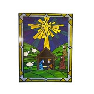 Club Pack of 24 Nativity Christmas Window Cling Sheets