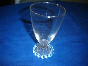 Vintage Anchor Hocking Boopie Clear Glass Water Goblet