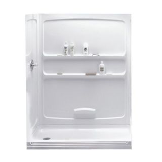 "American Standard 6032Y1 SW White Shower Wall Set 60""x32"" with Accessory Shelves"