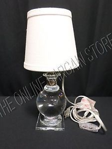 Pottery Barn Lexi Crystal Accent Table Lamp Light with Antique Bronze Accent