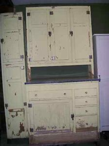 Hoosier Cabinet McDougall and Chimney Cupboard Farm Early American Painted