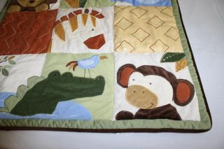 Kidsline African Dreams Baby Crib Boy Girl Safari Bedding Jungle Nursery Animals
