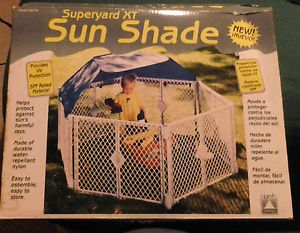 Superyard XT Gate Play Yard Baby Pet Sun Shade