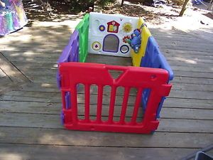 Baby Kids Play Yard Play Pen Pet Safety Fence Todays Kid 6 Panel