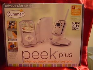 SUMMER INFANT PEEK PLUS INTERNET BABY MONITOR SYSTEM WORLD WIDE INTERNET NEW
