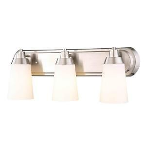 Hampton Bay 171972 Stratus Brushed Nickel 3 Light Bathroom Vanity Fixture