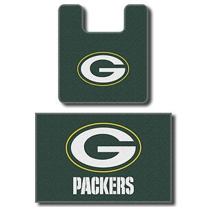 Green Bay Packers Rugs 2 Piece Set Bath Rug Set