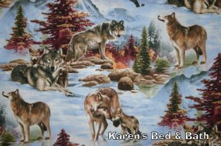 Wolf Pack Wolves North Country Adventure Scenic Mountain Bedding Pillowcase New