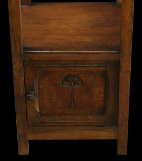 Antique French Arts Crafts Nightstand Bedside Table