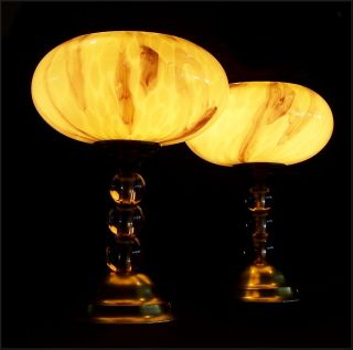Pair of Original French Art Deco Bedside Table Lamps 1930