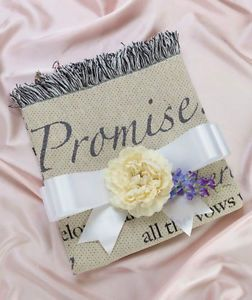 "50"" x 60"" I Promise Wedding Poem Throw Blanket Hanging Gift for Bride and Groom"