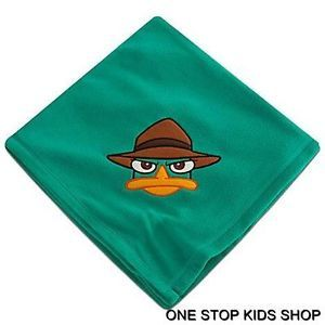 Perry The Platypus Throw Plush Blanket Fleece Phineas and Ferb Disney