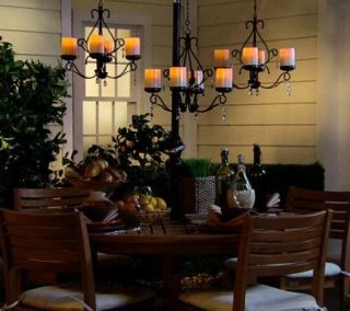 Home Reflections Indoor Outdoor 3 in 1 Sconces w 4 Flameless Candles Bronze