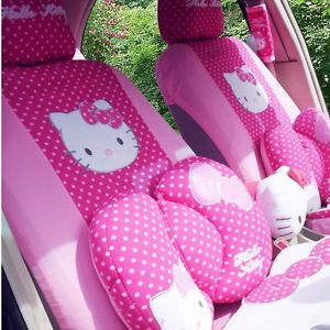 22pc Set Hello Kitty Car Seat Cover and Other Car Accessories Cover Cute Rose