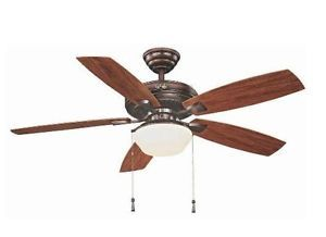 Hampton Bay Gazebo 52 inch Indoor Outdoor Ceiling Fan with Light Kit Bronze