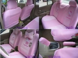 Hello Kitty Auto Car Seat Cover Accessories Set Pink 18pcs