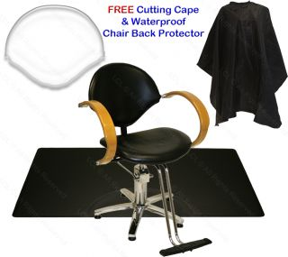 Hydraulic Barber Chair Natural Oak Arms Mat Hair Styling Beauty Salon Equipment