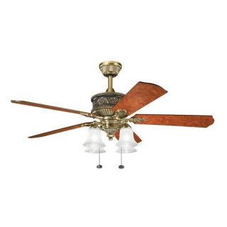 Kichler 300161BAB Corinth 52 inch Indoor Ceiling Fan with Blades and Light Kit I
