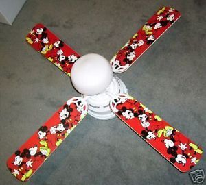 "New Mickey Mouse Classic 42"" Ceiling Fan w Light Kit"