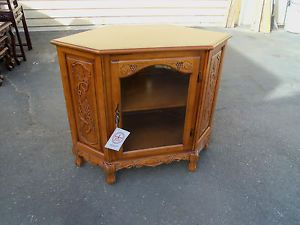 49640 French Country Corner China Cabinet Curio Cabinet Royola Pacific Furniture