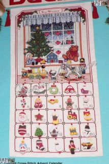 Bucilla Toy Shoppe Counted Cross Stitch Advent Calendar Christmas Kit