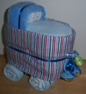 New Striped Mini Diaper Bassinet Baby Shower Pink Blue Nuetral