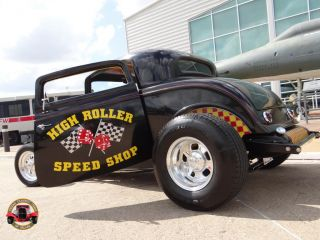 "1932 Ford Coupe ""High Roller Speed Shop"" 454 Awesome Hot Rod Street Machine"