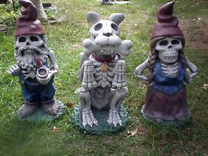 Zombie Gnome Garden Family Halloween Prop Yard Lawn Decor Scary Outdoor Spooky