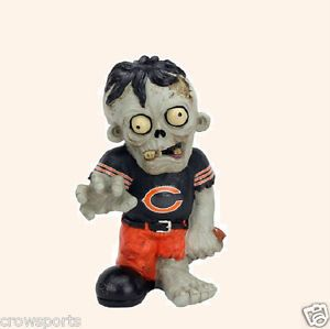 Chicago Bears Zombie Garden Gnome Resin Statue Gift NFL New