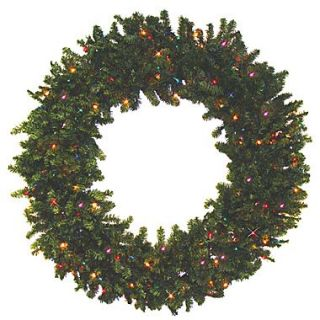 Darice Battery Operated Canadian Pine Artificial Christmas Wreath, Multi LED Light