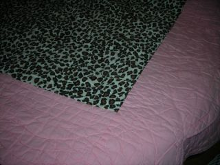 Lillian Vernon Comforter Full 100 Cotton India Leopard Print Pink