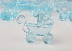 12 Blue Acrylic Baby Carriage Shower Party Supplies Favors Crafts Gift Art Cake