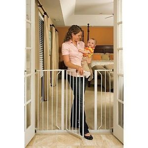 Extra Wide Tall Safety Walk thru Gate Pet Baby Kids Child Infant Dog Cats New