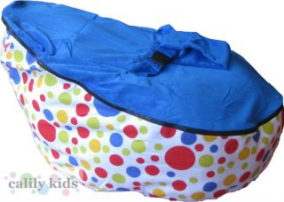 Baby Toddler Kids Portable Bean Bag Seat Polka Dot Dark Blue