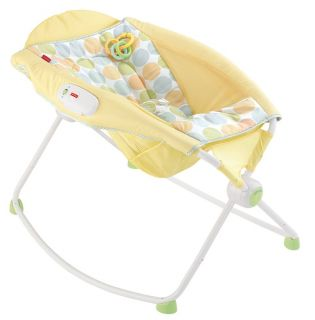 Fisher Price Newborn Baby Rock 'N Play Sleeper Vibration Rocker Yellow BHV55