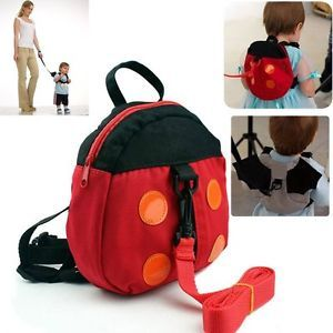 Baby Kids Walking Wings Toddler Safety Harness Backpack Strap Ladybug Bag