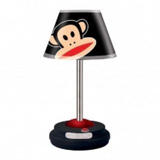 New Paul Frank Julius PF395BKR Kid's Table Desk Bedside Lamp Padded Bottom Base