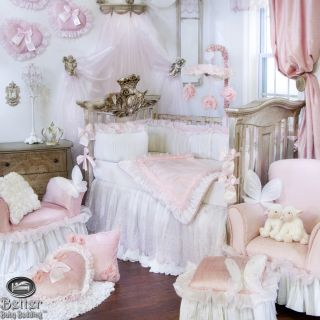 Glenna Jean Baby Girl Princess Chic Victorian Crib Nursery Bed Quilt Bedding Set