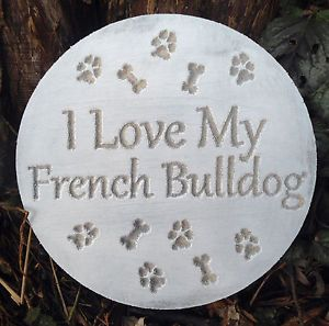 Plastic Plaque French Bulldog Dog Mold Garden Ornament Stepping Stone