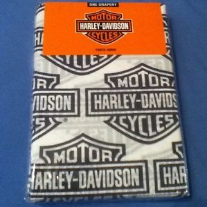 Harley Davidson Motorcycle Curtains Flame Rider Fireball One Drapery