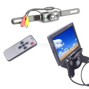 7 inch Digital TFT LCD Car Monitor with Backup Camera System with Night Vision