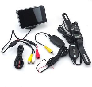 "3 5"" TFT LCD Car Rear View Monitor 2 4G Wireless Car Back Up Camera Kit System"