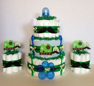 Turtle Baby Shower Diaper Cake Decor Baby Shower Mustache Diaper Cake Boys Showe