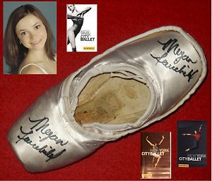 New York City Ballet Signed White Pointe Shoes Slipper Principal Megan Fairchild