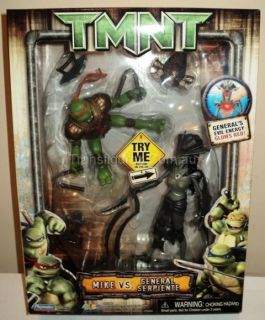TMNT Mike V General Serpiente Movie 2007 Figures MISB