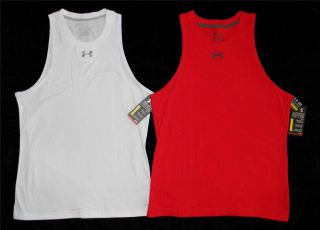 Under Armour Men's Charged Cotton Tank Top Muscle Shirt Red or White 1228794