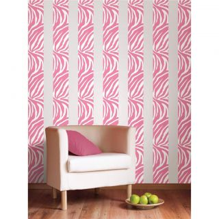 Pink Zebra Print 16' Removable Vinyl Sticker Wall Border Wallpaper Room Decor